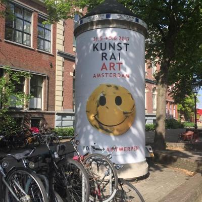 Opbouw KunstRai Art Amsterdam; morgen preview en opening.